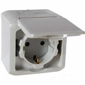 Base toma de superficie forix IP44 gris 782393 LEGRAND